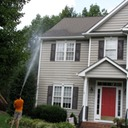 Marc's on the Glass soft wash pressure washing house with vinyl siding in richmond va